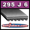 J-750-6 Non Belt. 295J6 Poly-V Belt,  Metric 6-PJ750 Motor Belt.