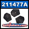 Comet 211477A Wedge Activator Pucks. Solid Plastic. Package of 3