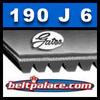 190J6 GATES MICRO-V Belt (Poly-V): Metric PJ483 Motor Belt.