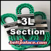 "Link V Belt: 3L Section. 0.375"" (3/8�) Top Width. Urethane Molded Link V-Belts Sold by the Lineal Foot (USA)."