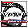 BANDO 669-18-30 Scooter Belt, Hi-Performance 669 VS belt for Scooters. Replaces OEM Qinjiang VS belt 669.