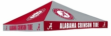 Alabama Crimson Tide Red / Grey Checkerboard Logo Tent Replacement Canopy