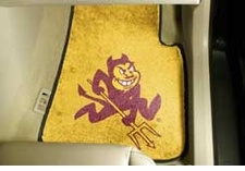 Arizona State Sun Devils 2-Piece Carpeted Car Mats Front Set
