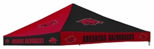 Arkansas Razorbacks Red / Black Checkerboard Logo Tent Replacement Canopy