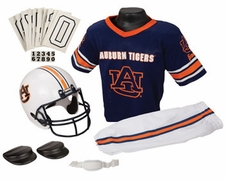 Auburn Tigers Deluxe Youth / Kids Football Helmet Uniform Set