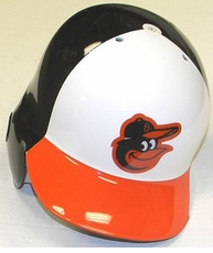 Baltimore Orioles White/Black/Orange Right Flap Rawlings Authentic Batting Helmet