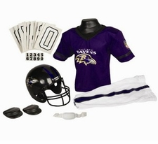 Baltimore Ravens Deluxe Youth / Kids Football Uniform Set