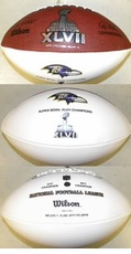 Baltimore Ravens Super Bowl 47 XLVII Champions Wilson Official Autograph Game Ball Football