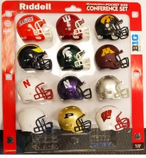 Big Ten Pocket Pro Conference Helmet Set, 2012