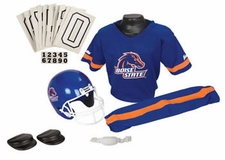 Boise State Broncos Deluxe Youth / Kids Football Helmet Uniform Set