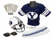 BYU Cougars Deluxe Youth / Kids Football Helmet Uniform Set
