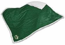 Cal Poly Mustangs Green Sherpa Throw