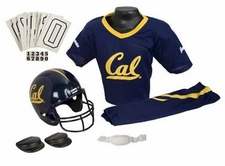 California Golden Bears Deluxe Youth / Kids Football Helmet Uniform Set