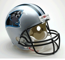 Carolina Panthers 1995-2011 Throwback Riddell Deluxe Replica Helmet