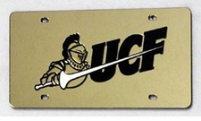 Central Florida Knights Gold Laser Cut License Plate