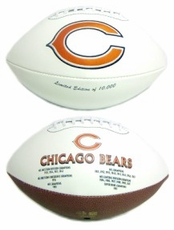 Chicago Bears Embroidered Autograph Signature Series Football