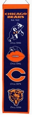 Chicago Bears Wool 8x32 Heritage Banner