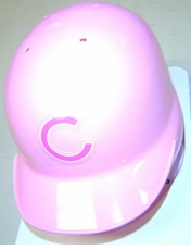 Chicago Cubs Pink Riddell Mini Baseball Batting Helmet