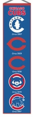 Chicago Cubs Wool 8x32 Heritage Banner