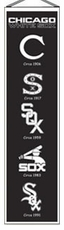 Chicago White Sox Wool 8x32 Heritage Banner