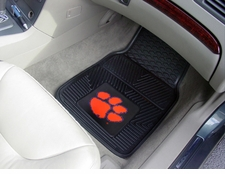Clemson Tigers 2-Piece Heavy Duty Vinyl Car Mat Set