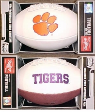 Clemson Tigers Full Size Signature Embroidered Football