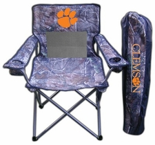 Clemson Tigers Realtree Camo Mesh Chair