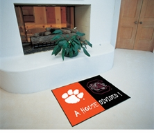 Clemson Tigers - South Carolina Gamecocks House Divided Floor Mat