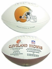 Cleveland Browns Embroidered Autograph Signature Series Football