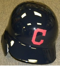 Cleveland Indians C Logo Right Flap Rawlings Authentic Batting Helmet