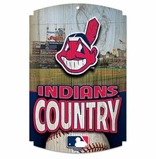 Cleveland Indians Wood Sign