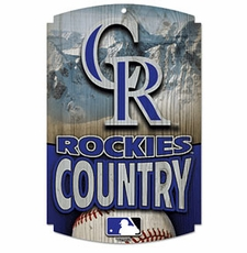 Colorado Rockies Wood Sign