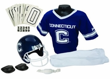 Connecticut Huskies Deluxe Youth / Kids Football Helmet Uniform Set
