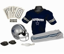 Dallas Cowboys Deluxe Youth / Kids Football Uniform Set