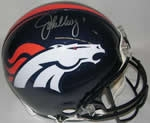 Denver Broncos Autographed Football Gear