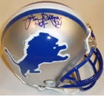 Detroit Lions Autographed Football Gear