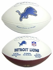 Detroit Lions Embroidered Autograph Signature Series Football