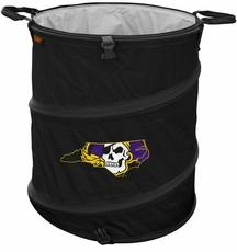 East Carolina Pirates Black Trash Can / Cooler / Laundry Hamper