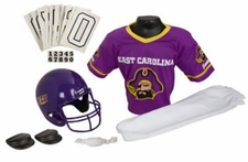 East Carolina Pirates Deluxe Youth / Kids Football Helmet Uniform Set