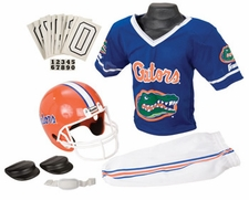 Florida Gators Deluxe Youth / Kids Football Helmet Uniform Set