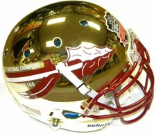 Florida State Seminoles 2013 National Champions 14-0 Gold Chrome Schutt Authentic XP Helmet