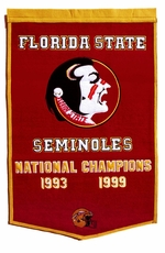 Florida State Seminoles 24 x 36 Football Dynasty Wool Banner