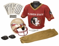 Florida State Seminoles Deluxe Youth / Kids Football Helmet Uniform Set