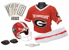 Georgia Bulldogs Deluxe Youth / Kids Football Helmet Uniform Set