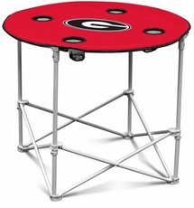 Georgia Bulldogs Round Tailgate Table