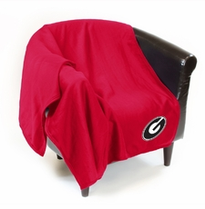 Georgia Bulldogs Sweatshirt Throw Blanket