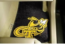 Georgia Tech Yellow Jackets 2-Piece Carpeted Car Mats Front Set
