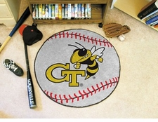 "Georgia Tech Yellow Jackets 27"" Baseball Floor Mat"