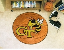 "Georgia Tech Yellow Jackets 27"" Basketball Floor Mat"