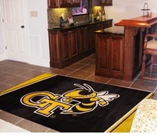 Georgia Tech Yellow Jackets 4'x6' Floor Rug